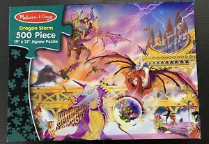 "Melissa & Doug "" DRAGON STORM "" 500 piece jigsaw puzzle #3155 Challenging & Fun!"