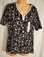 women's Croft & Barrow floral top size small short sleeves MSRP $26