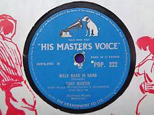 TONY MARTIN - Walk Hand In Hand / Flamenco Love 78 rpm disc