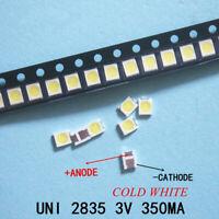 100pcs 3528 2835 3V Lamp Beads 350mA for LED TV Backlight Strip Bar,Repair TV