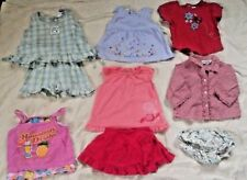 Lot of 9 Baby Girl Clothes Size 18 Months  Summer Outfits Shirts Skirt Spring