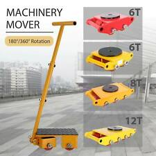 Machinery Mover Industrial Dolly Skate Cast Steel Roller 360° Rotation 6T 8T 12T