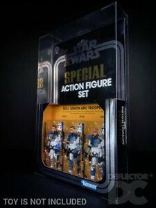 DEFLECTOR DC® DISPLAY CASE: Star Wars Vintage Collection 501st ARC Trooper Set