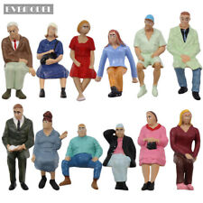 G Scale Model Figure 1:22.5-1:25 All Seated  Painted People Model Railway P2513