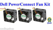Quiet Version! Set of 3x fans for Dell PowerConnect 2748 Fan Kit (XP166)
