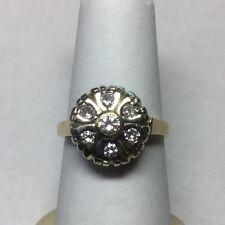 Beautiful Vintage 14Kt Yellow Gold Diamond Ring Size 7.5 1/2ctw