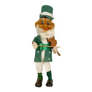 Herman Pecker Irish Fiddler Doll Bendable Arms Legs St Patrick's Day VINTAGE