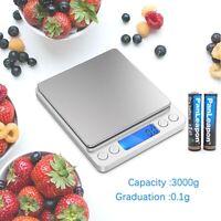 Digital Scale 2000g x 0.1g Jewelry Kitchen Weight Food Pocket Electronic Balance