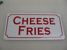 "CHEESE FRIES Metal Signs 6""x12"" Food & Beverage Retro Vintage Design Concession"