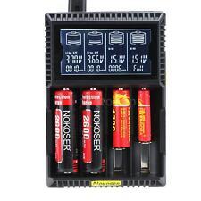 Nokoser 4 Slot Smart Digital LCD Battery Charger LiFePO4 Ni-MH/Ni-Cd AA/AAA H0T9