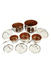 NuWave 31250 Silver/Copper Stainless 10 Piece Cookware Set NEW in Box