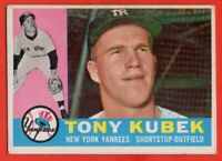 1960 Topp #83 Tony Kubek VG-VGEX WRINKLE MARKED New York Yankees FREE SHIPPING