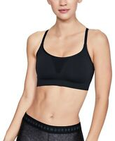 Under Armour Women's Seamless Adjustable Low-impact Sports Bra Black Size XS