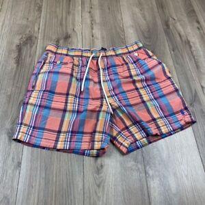 Polo Ralph Lauren Men's Swim Trunks Shorts Plaid Print Size L Large