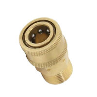 1x Brass Pressure Washer Quick Connect M22 to 1/4 Male Coupler Adapter