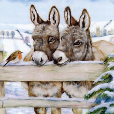 Full Drill Two Donkey 5D DIY Diamond Painting Embroidery Cross Stitch Kit AU