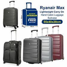 Aerolite Lightweight 2 / 4 Wheel Carry On Hand Cabin Luggage Suitcase 55x40x20cm
