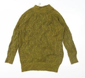 Papaya Womens Green  Knit Pullover Jumper Size S