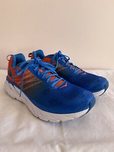 Hoka One One Clifton 6 Mens UK9.5 [Manderin Red/Imperial Blue]