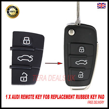 AUDI REMOTE KEY FOB RUBBER BUTTON PAD REPLACEMENT 3 BUTTON