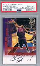 2002 Fleer Maximum Autographs # Vince Carter Auto /375