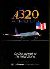 """A320 Airbus """"FinaL Approach To United States"""" 1992 Magazine Advert #5714"""