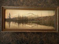 Mt Hood Lost Lake ? Oregon OR ? Antique Hand Colored? Photography Forest
