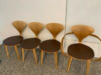 Mid Century Chair Norman Cherner for Plycraft Danish Modern Plywood Side Chair