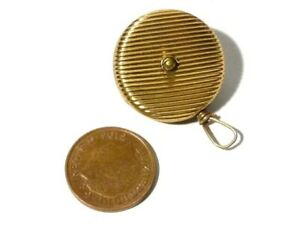 Antique Gold Plated Retractable Houghton Patent Chain & Loop 4 Jewellery Key