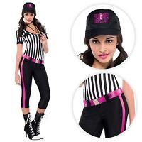 Mujer Sexy Árbitro SPORTS Footie Fútbol Silbato Disfraz