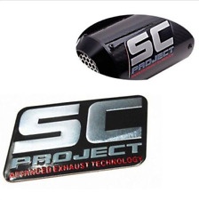 3D  SC Sticker Aluminium Decal Motorcycle Exhaust Pipes Scooter Muffler sticker
