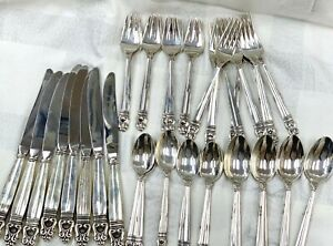 International Sterling Silver Royal Danish Flatware Place Settings For 8 /40 Pc