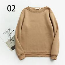 Women Blouse Sweatshirt Round Neck Plus Warm Autumn and Winter Students Shirts