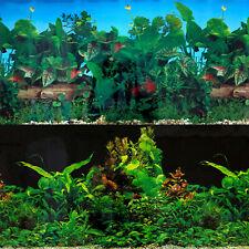 Superfish Poster 3 Plants Aquascape Day Night Aquarium Background Fish Tank