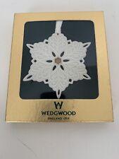 Wedgwood Jasperware Snowflake Boxed Ornament New Boxed!