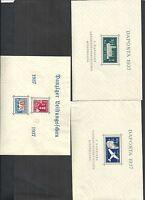Danzig, Gdansk 1937, MiNrn: 270,271,274 Block 1, 2, 3 **/*, postfrisch, Auswahl