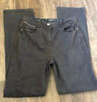 Per Una Jeans Grey Straight Leg 10  30L Stretch