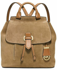 Michael Kors Romy Medium Leather Suede Desert Gold Backpack