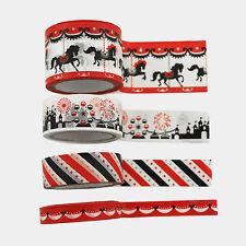 Theme Park Decorative Self Adhesive Masking Washi Tape Sticky Paper Sticker Set