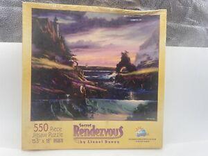 """Jigsaw Puzzle Secret Rendezvous Lionel Dougy 550 Pieces New by SunsOut 15 """"x 18"""""""