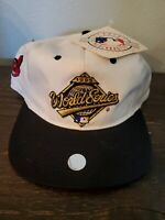 Vintage NWT World Series 1995 Indians Hat Baseball Cap Competitor Snapback