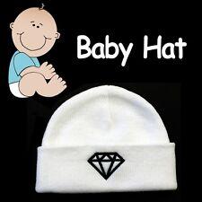 BABY BEANIE HAT ***DIAMOND*** SOFT COZY WHITE CAP HAT