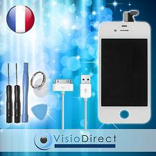 Vitre tactile ecran LCD sur chassis pour iPhone 4S blanc+cable USB pour iPhone4S