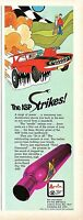 1970 small Print Ad of Arvin ASP High Performance Muffler Johnny Lightning
