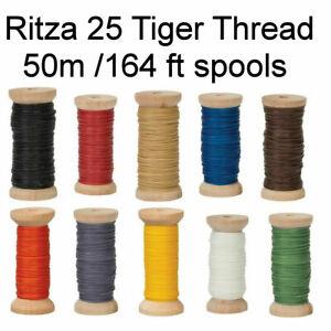 US SELLER Ritza Tiger Thread 50M SPOOL** 164 ft .8mm _.6mm_1mm_1.2mm Leather