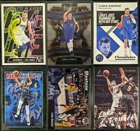 Lot of (6) Luka Doncic, Including Select, Mosaic Montage, Luminance & inserts