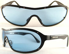 Rare Momo Design Gents Sunglasses, light weight Pure Titanium, Black/Blue