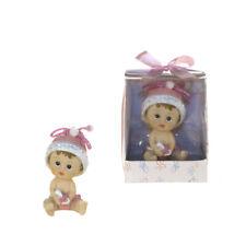 Mega Favors - Baby Girl Sitting Poly Resin - Pink, 12Pcs