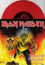 """IRON MAIDEN - THE NUMBER OF THE BEAST - 7"""" RED VINYL BRAND NEW UNPLAYED 2005"""