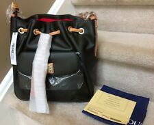 Dooney & Bourke Smooth Leather City Drawstring in FOREST $388